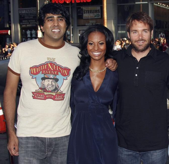Jay Chandrasekhar, Candice Smith and Will Forte at the premiere of
