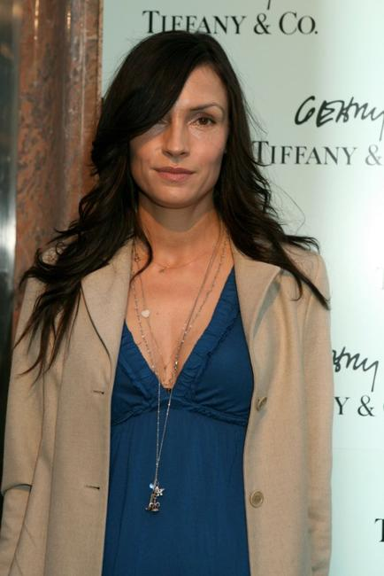 Famke Janssen at the launch of Frank Gehry's premier collection.