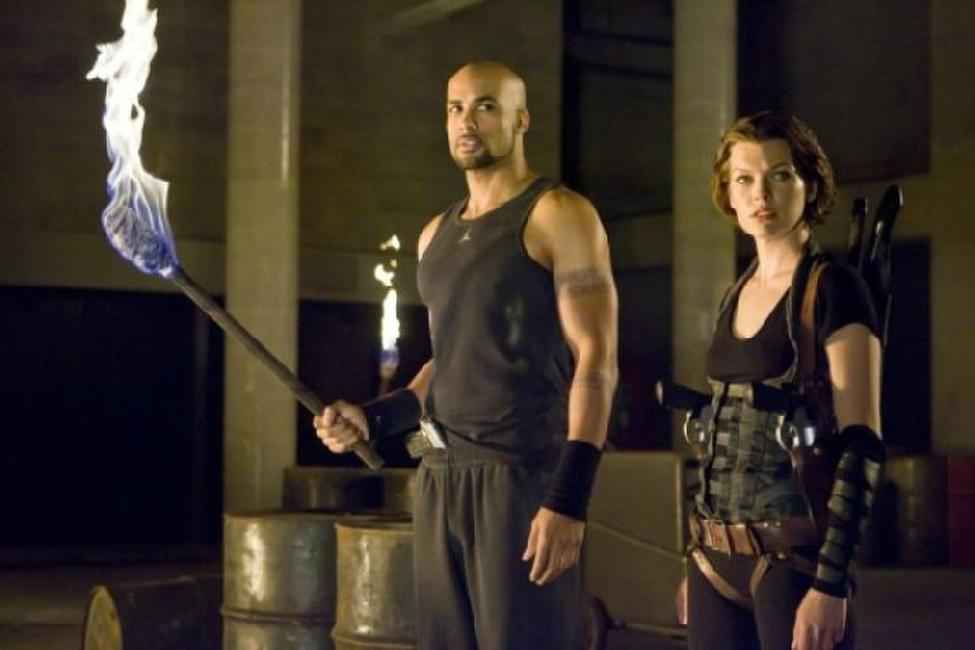 Boris Kodjoe and Milla Jovovich in