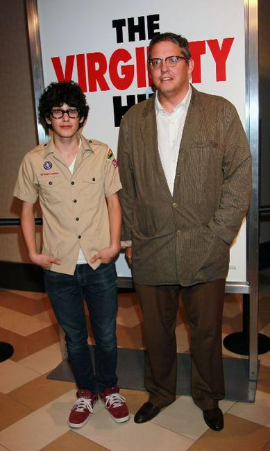 Matt Bennett and Adam McKay at the screening of