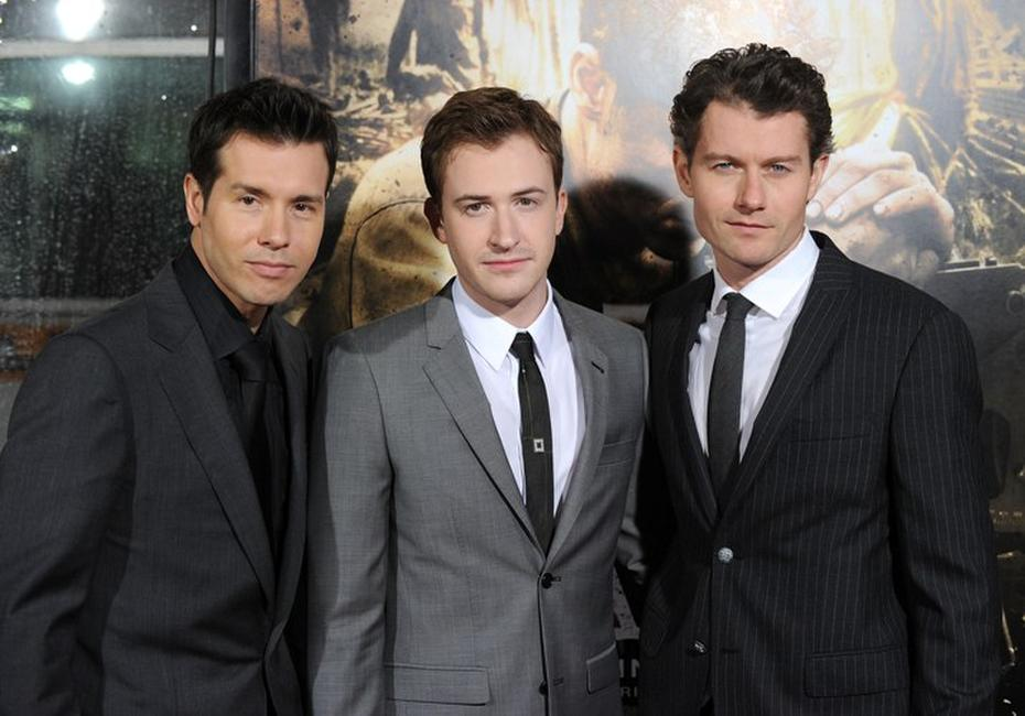 Jon Seda, Joseph Mazzello and James Badge Dale at the premiere of