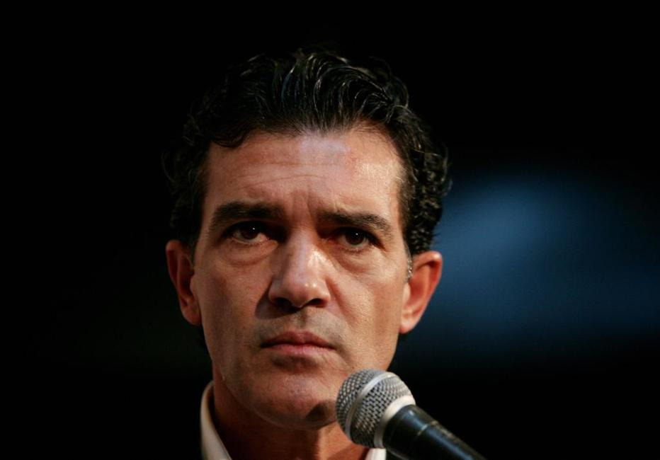 Antonio Banderas at the press conference for