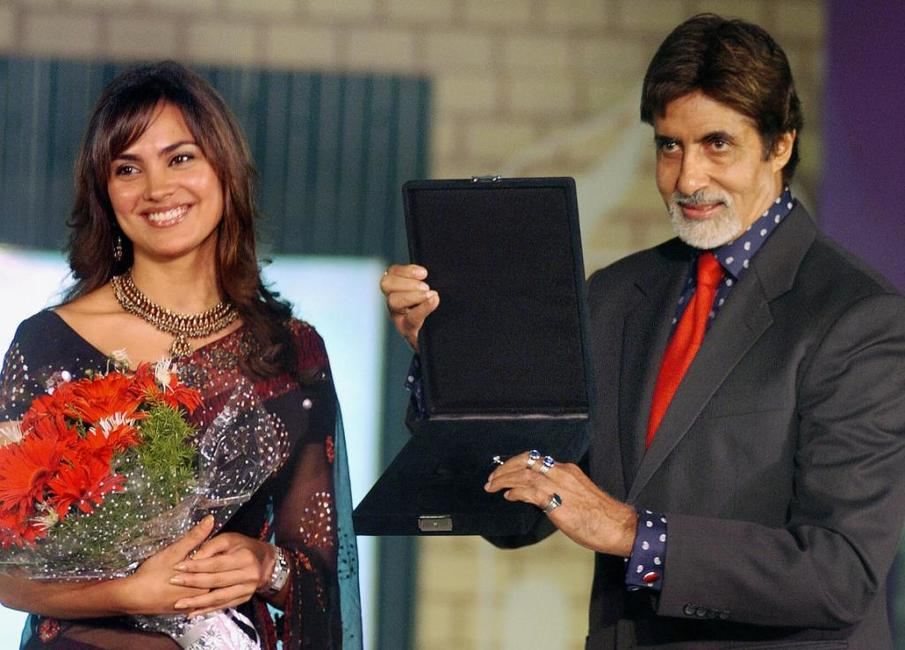 Lara Dutta and Amitabh Bachchan at the launch of