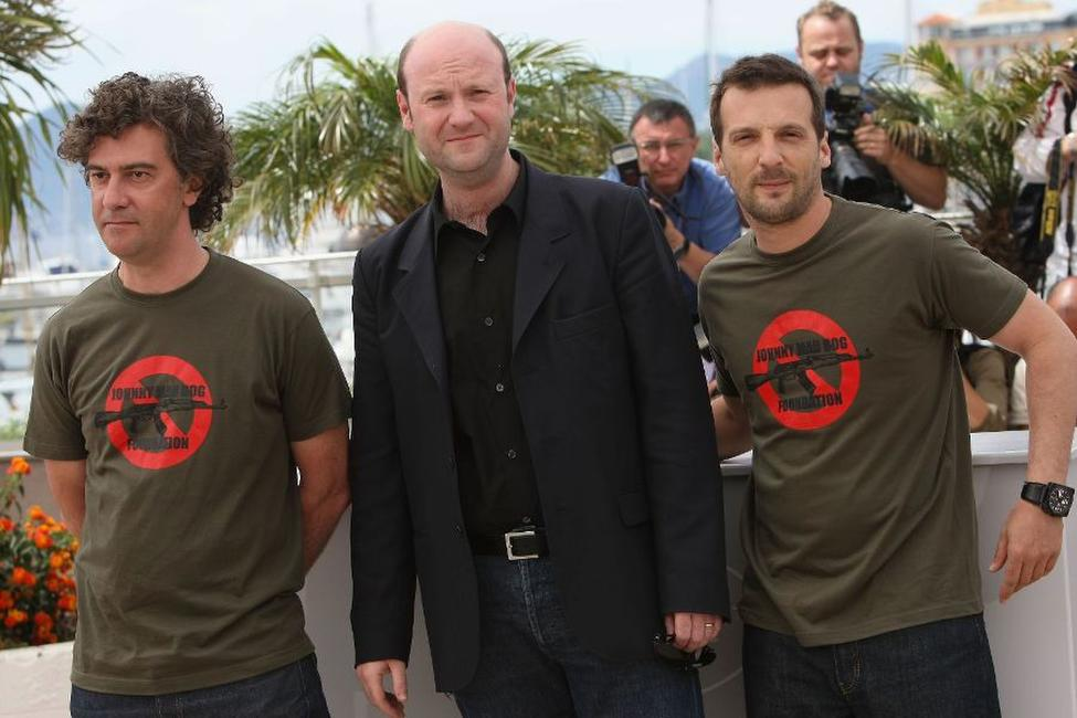 Director Jean-Stephane Sauvaire, Benoit Jaubert and Mathieu Kassovitz at the 61st International Cannes Film Festival.