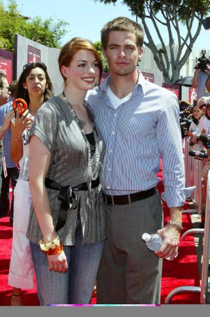 Anne Hathaway and Chris Pine at the California premiere of
