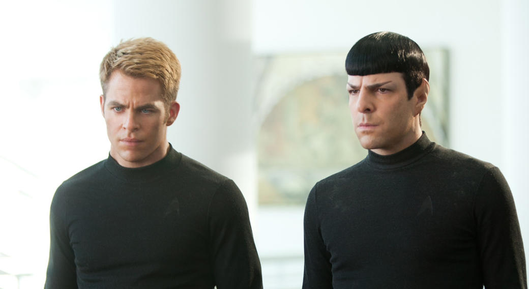Chris Pine and Zachary Quinto in
