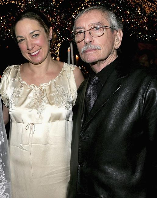Elizabeth Marvel and Edward Albee at the after party of the opening night of