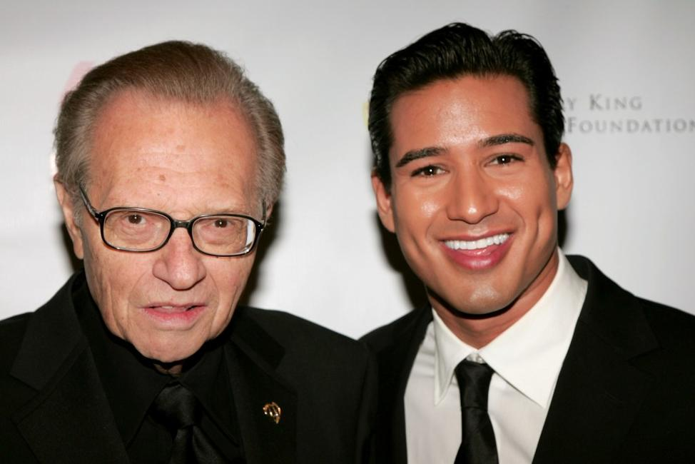 Larry King and Mario Lopez at the King of Hearts gala.