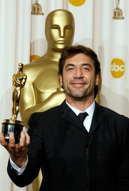 Javier Bardem at the 80th Annual Academy Awards.