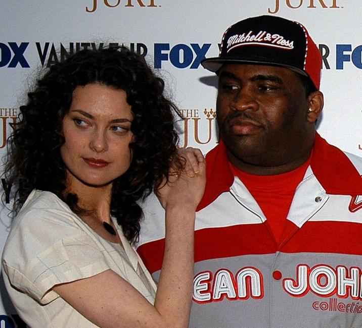 Shalom Harlow and Patrice O'Neal at the launch party of