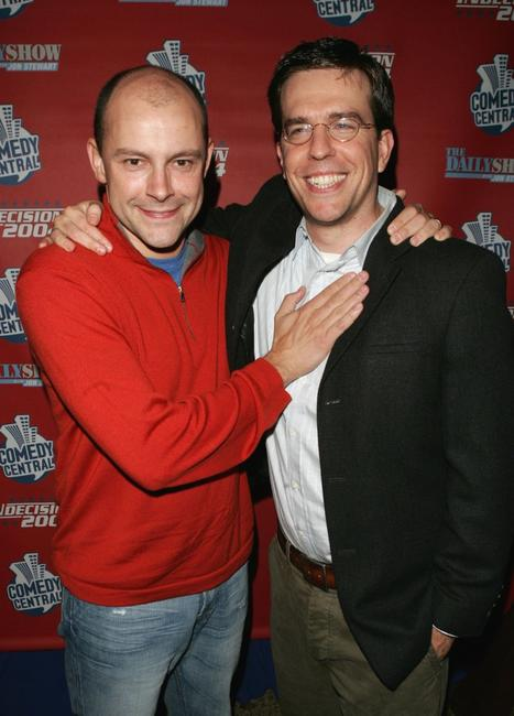 Rob Corddry and Ed Helms at the Comedy Central Election Night Party.