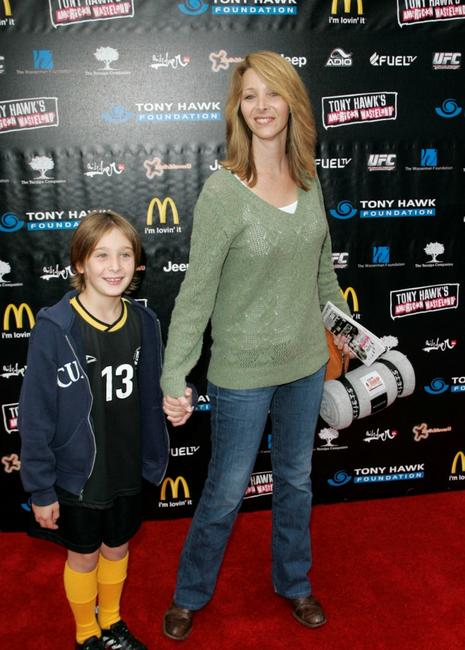 Lisa Kudrow and son Julian at the Stand Up for Skate Parks To Benefit The Tony Hawk Foundation.