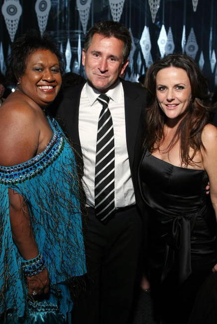 Anthony LaPaglia, Vicki Saylor and his wife Gia Carides at the after party following the L'Oreal Paris 2007 AFI Awards Dinner.