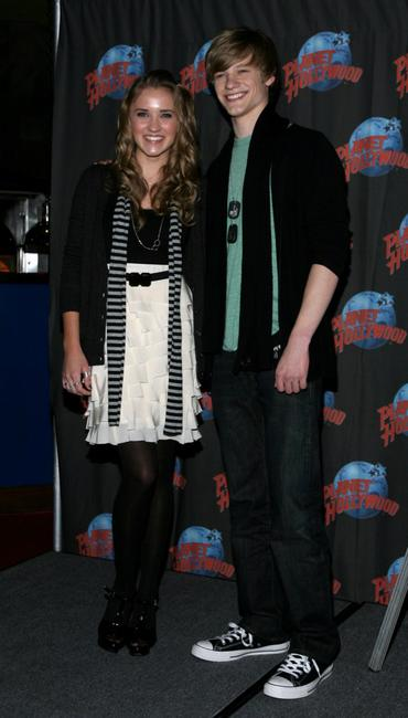 Emily Osment and Lucas Till at the promotion of