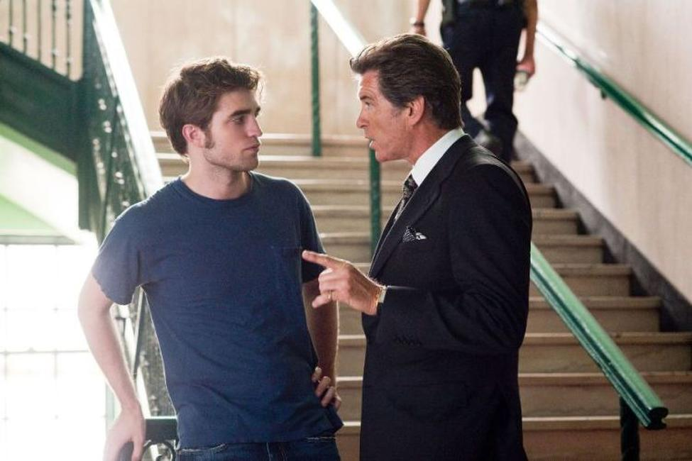 Robert Pattinson and Pierce Brosnan in