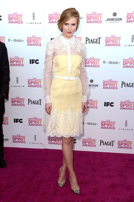 Brit Marling at the 2013 Film Independent Spirit Awards.