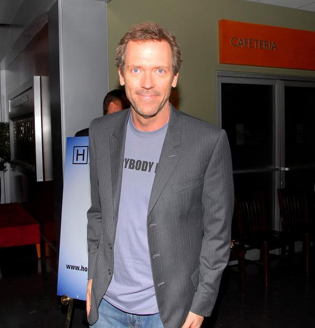Hugh Laurie at the announcement of the creation of exclusive ''House-ism'' t-shirts to benefit the National Alliance on Mental Illness.
