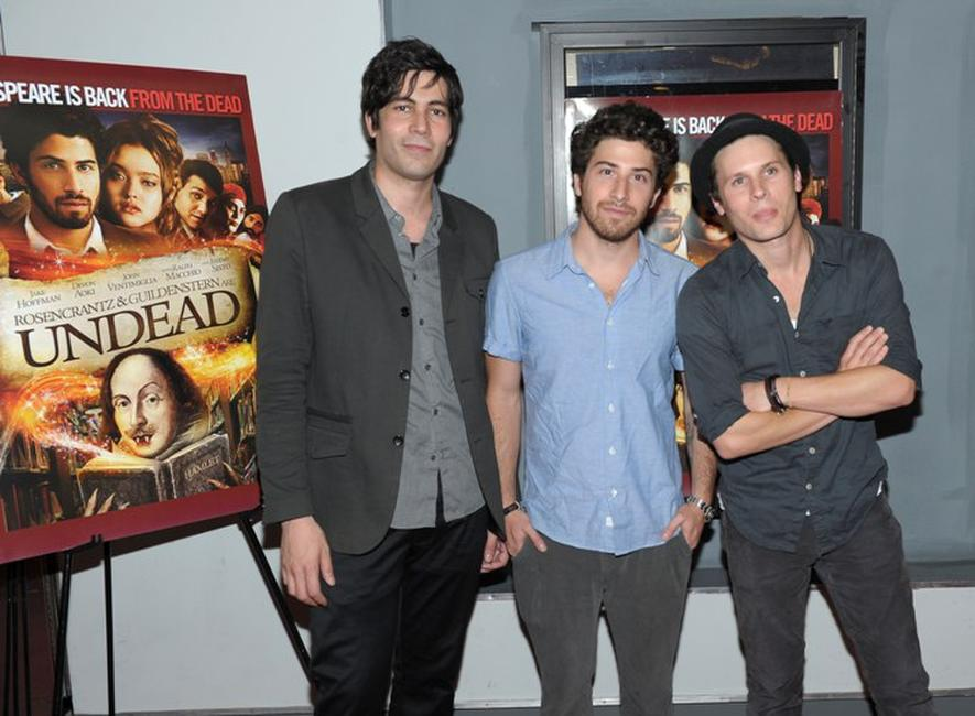 Producer Carlos Velazquez, Jake Hoffman and Kris Lemche at the premiere of