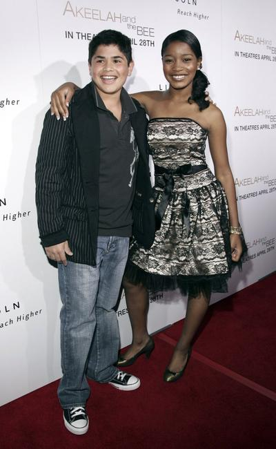 J. R. Villareal and Keke Palmer at the Los Angeles premiere of