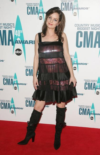 Kimberly Williams-Paisley at the 40th Annual CMA Awards.