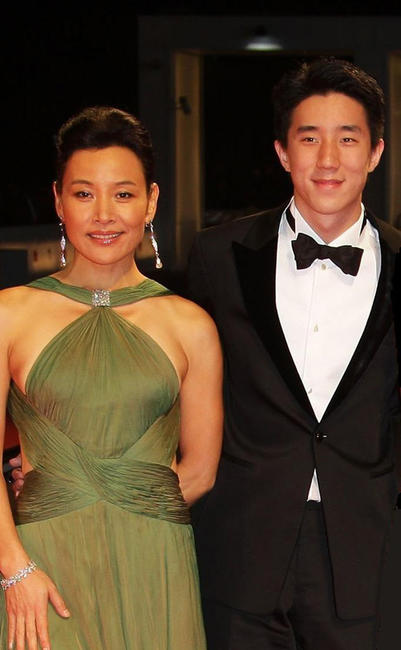 Joan Chen and Jaycee Chan at the premiere of