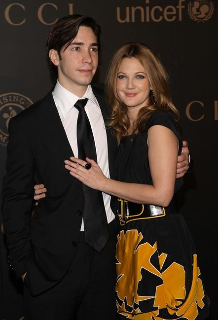 Justin Long and Drew Barrymore at the Mercedes-Benz Fashion Week Fall 2008.