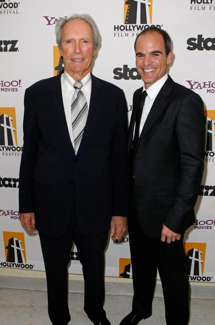 Director Clint Eastwood and Michael Kelly at the Hollywood Film Festival's Gala Ceremony.