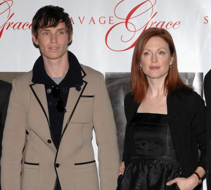 Eddie Redmayne and Julianne Moore at the photocall of