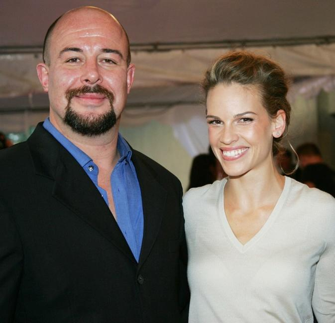 Jamie Bartlett and Hilary Swank at the gala screening of