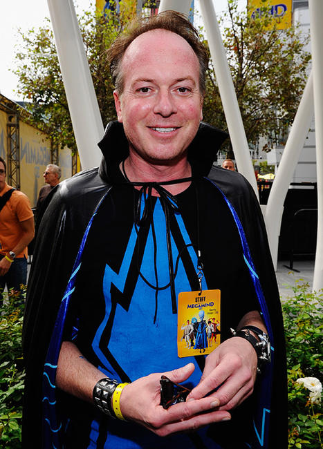 Tom McGrath at the Guinness World Record for largest gathering of costumed superheroes.
