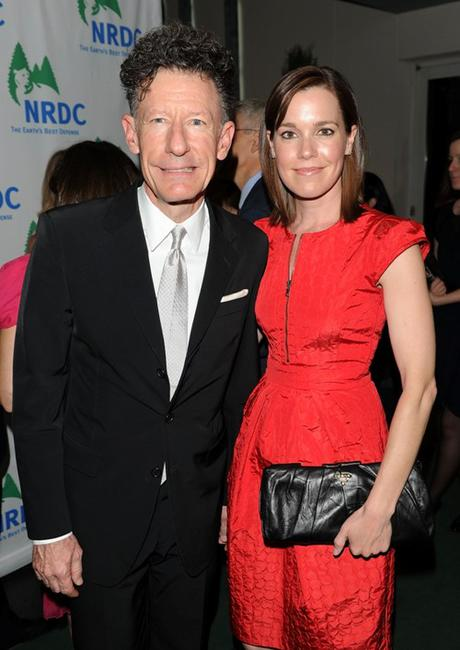 Lyle Lovett and April Kimble at the Natural Resources Defense Council's 12th Annual