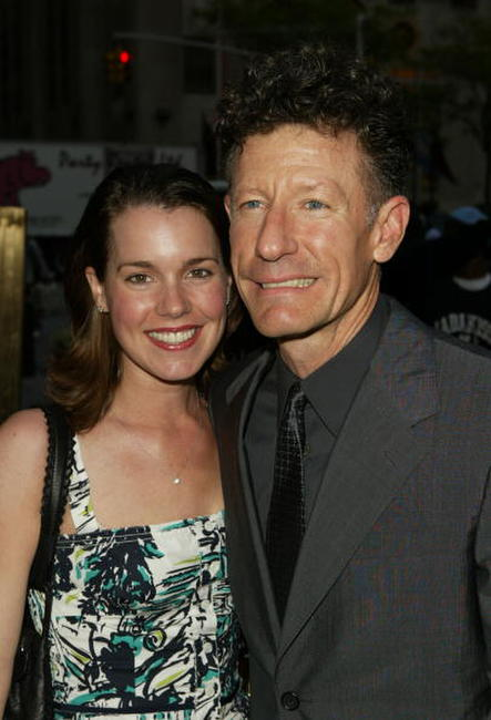 Lyle Lovett and girlfriend April Kimble at the Rockefeller Center Motorcycle Show Opening Night Bash.