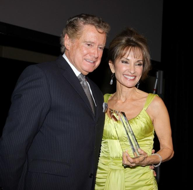 Regis Philbin and Susan Lucci at the AFTRA Media and Entertainment Excellence Awards.