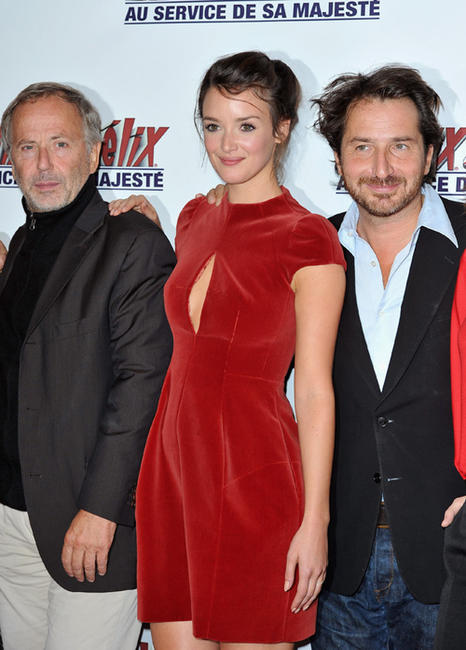 Fabrice Luchini, Charlotte Lebon and Edouar Baer at the Paris premiere of