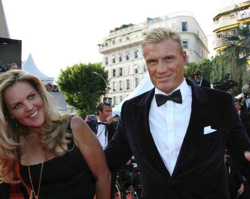 Anette Qviberg and Dolph Lundgren at the premiere of