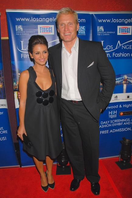 Monica Cruz and Dolph Lundgren at the world premiere of