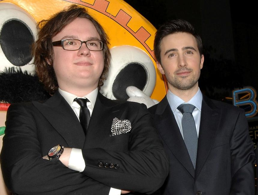 Clark Duke and Josh Zuckerman at the premiere of