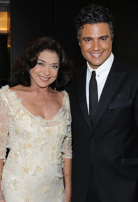 Betty Faria and Jaime Camil at the 38th AFI Life Achievement Award honoring Mike Nichols.
