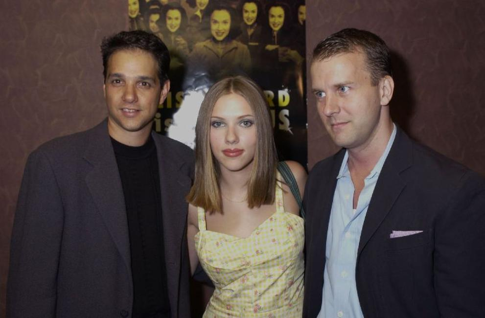 Ralph Macchio, Scarlett Johansson and Nat De Wolf at the New York premiere of