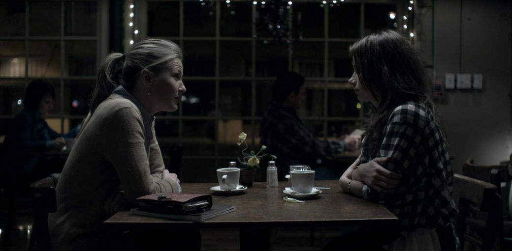 Dr Sheppard (Joey Lauren Adams) and Emily (Olesya Rulin) in