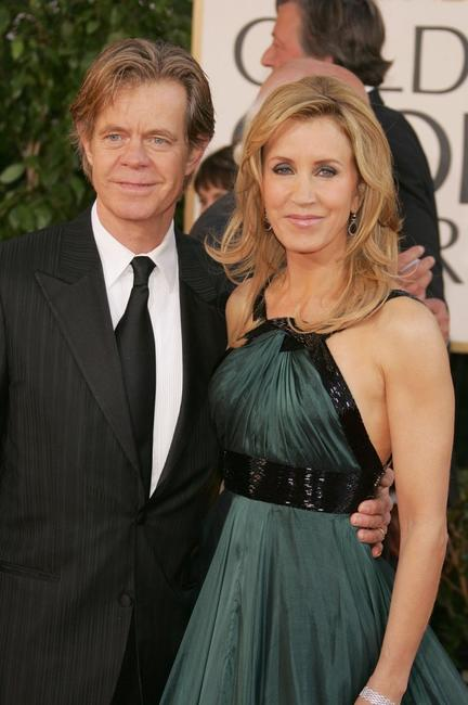 William H. Macy and Felicity Huffman at the 64th Annual Golden Globe Awards.