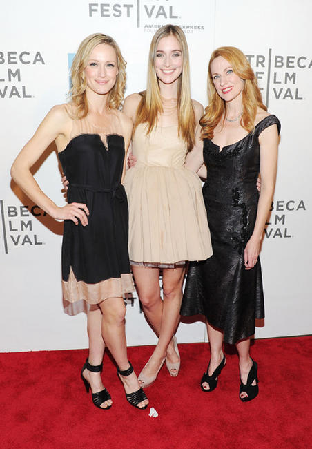 Kerry Bishe, Caitlin Fitzgerald and Marsha Dietlein Bennett at the premiere of