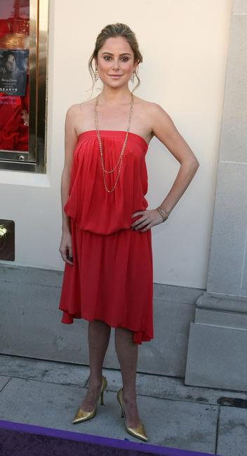 Amanda Brooks at the Gearys where Dame Elizabeth Taylor unveiled her House Of Taylor Jewelry Inc holiday collection.