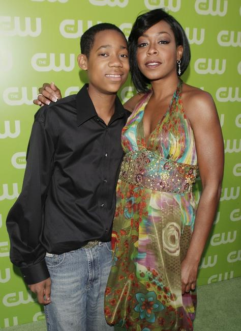 Tyler James Williams and Tichina Arnold at the CW Network's Affiliate Launch party.