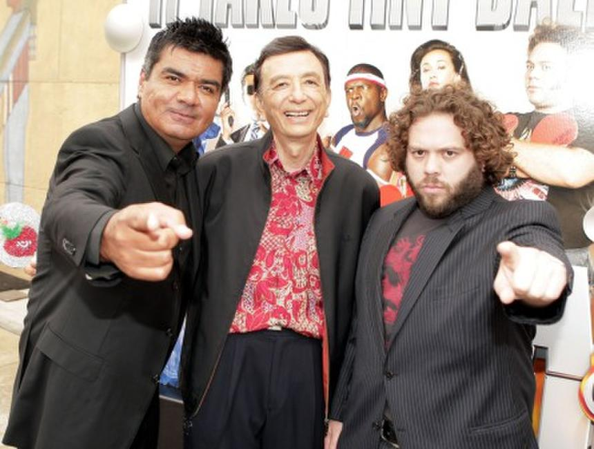George Lopez, James Hong and Dan Fogler at the premiere of