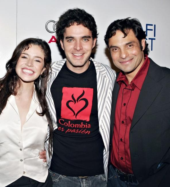 Flora Martinez, Manolo Cardona and Producer Matthias Ehrenberg at the North American premiere of