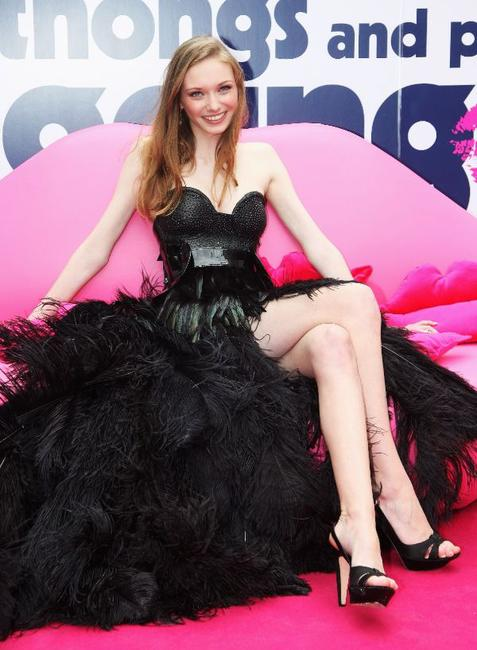 Eleanor Tomlinson at the UK premiere of