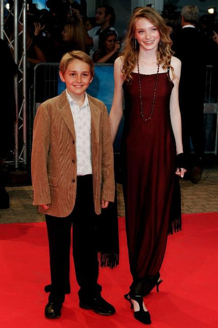 Aaron Johnson and Eleanor Tomlinson at the premiere of