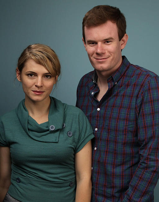 Amy Seimetz and Joe Swanberg at the 2010 Toronto International Film Festival.