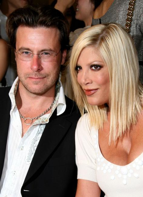 Dean McDermott and Tori Spelling at the Jill Stuart 2008 Fashion Show during the Mercedes-Benz Fashion Week Spring 2008.